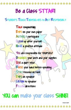 Be a Class S.T.T.A.R.! - A Classroom Behavior Poster