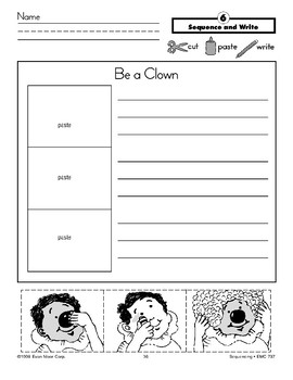 Be a Clown (Sequence and Write)