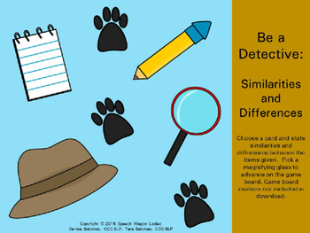 Similarities and Differences: Be A Detective in Speech-Language Therapy