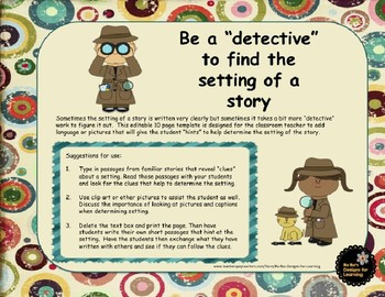 Be a Detective to Find the Setting of a Story Editable Template