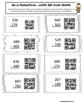 Be a Detective with QR Code Math by Janet Burnett | TpT