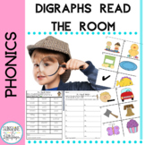 Phonics Digraphs: Read&Write the Room Word Work Phonics: B
