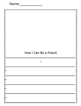 Be a Friend writing page