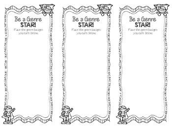 Be a Genre Star! Reading Incentive Program