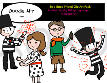 Be a Good Friend Clipart Pack
