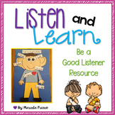Be a Good Listener Resource with Craftivity