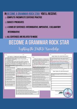 Become a Grammar Rock Star  (Grades 5-6)