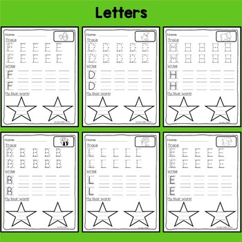 handwriting practice by itty bitty kinders teachers pay teachers. Black Bedroom Furniture Sets. Home Design Ideas