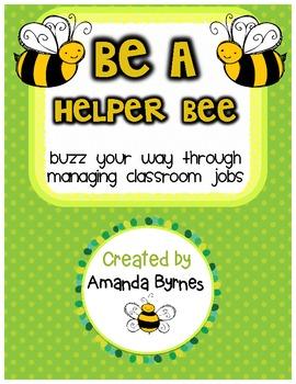 Be a Helper Bee Classroom Jobs Display