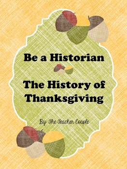 Be a Historian - Thanksgiving