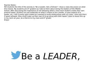 Be a Leader (twitter theme)
