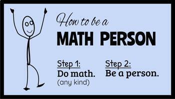 Be a Math Person Bulletin Board - Google Slides Version
