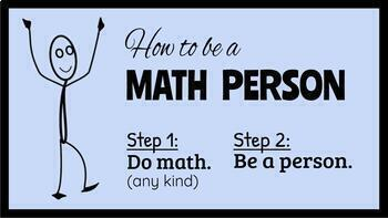 Be a Math Person Bulletin Board - PDF Version