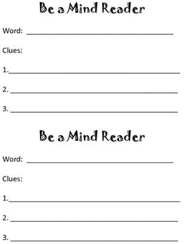 Be a Mind Reader