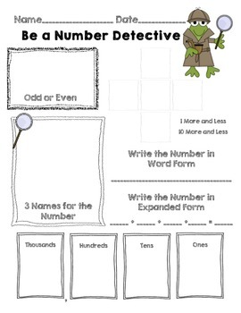 Be a Number Detective with a Frog Theme