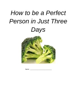 Be a Perfect Person in Just Three Days Comprehension Activity Packet