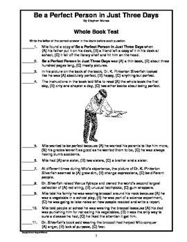 Be a Perfect Person in Just Three Days   Whole Book Test