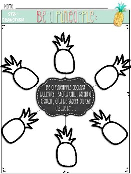 Be a Pineapple Against Bullying Writing Prompt & Craftivity Back to School