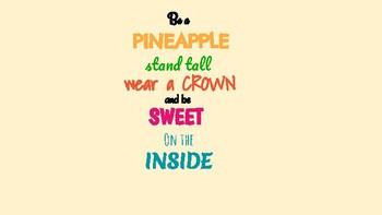 Be a Pineapple Door Dec