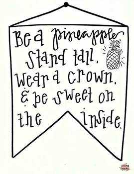 Be a Pineapple motivational print
