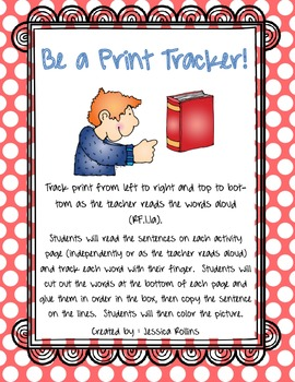 "Be a Print Tracker! (for CCSS Unit 1, ""Alphabet Books & Children Who Read Them"")"