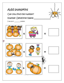 Be a Pumpkin Detective Math