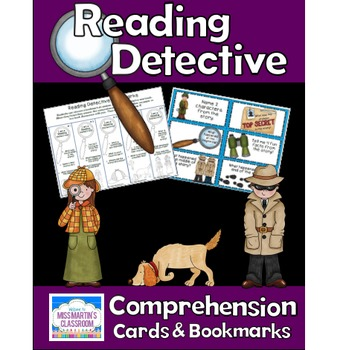 Reading Comprehension Task Cards and Bookmarks - Be a Read