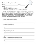Be a Reading Detective_Worksheet