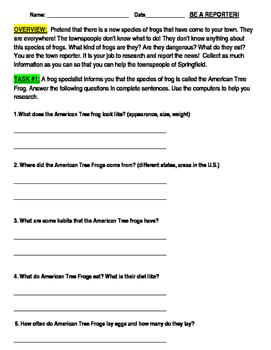 Be a Reporter Enrichment Project