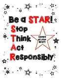 Be a STAR - Behavior Motivation Poster