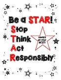 Be a STAR - Behavior Motivation Poster