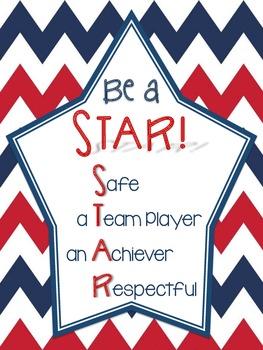 Be a STAR! Classroom Behavior Poster