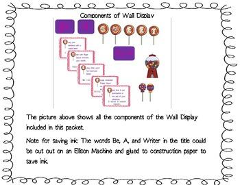 Be a SWEET Writer! Classroom Display