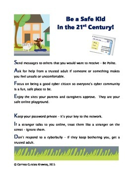 Be a Safe Kid in the 21st Century - Digital Citizenship