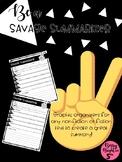Be a Savage Summarizer Graphic Organizers