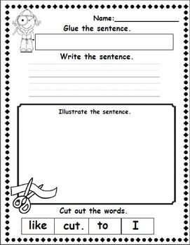 Be a Sentence Detective! Mixed up Sentences Freebie