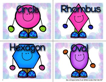 Be a Shape Detective! Shape Attributes Mini Posters, Task Cards... More