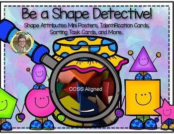Be a Shape Detective! Shape Attributes Mini Posters, Task