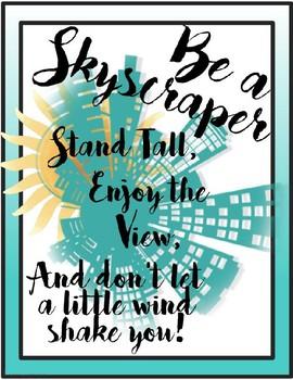 Be a Skyscraper Free Poster