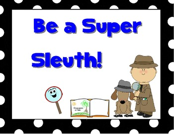 "Reading Street: ""Be a Super Sleuth"" Reading Clues"