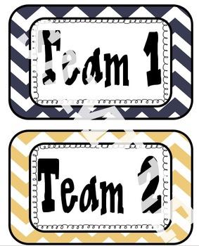 Be a Team Player Classroom Behavior Organization Tool