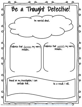 Be a Thought Detective! School Counseling Graphic Organizer