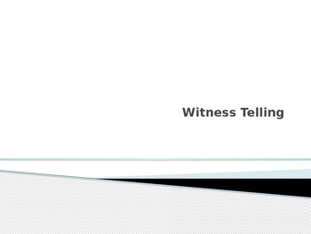 Be a Witness Activity