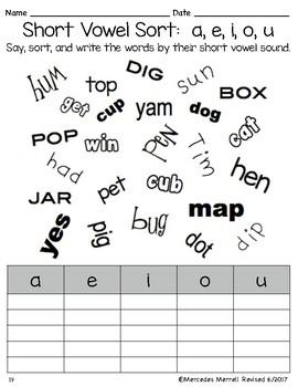 Be a Word Detective  Short a, e, i, o, u CVC Words... Plus HFW First Grade
