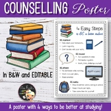 Counselling Editable Poster