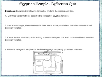 Be an Active Reader: Egyptian Temple Augmented Reality