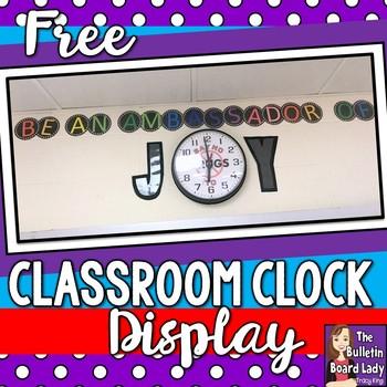 Be an Ambassador of Joy Clock Display