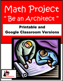 Be an Architect - Math Project - Printable & Distance Lear