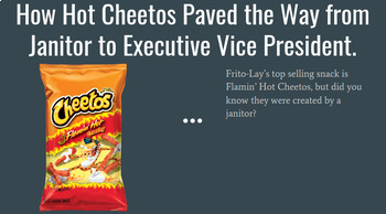 Be an Innovator - Creating a New Potato Chip Flavor for the Frito-Lay's Brand