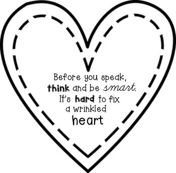 Be kind- Wrinkled Heart poster